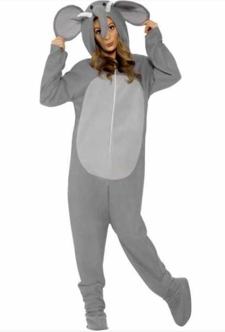 voksenkostueme elefant kostume elefantkostume til voksne elefant fastelavnskostume elefant udklædning til voksne