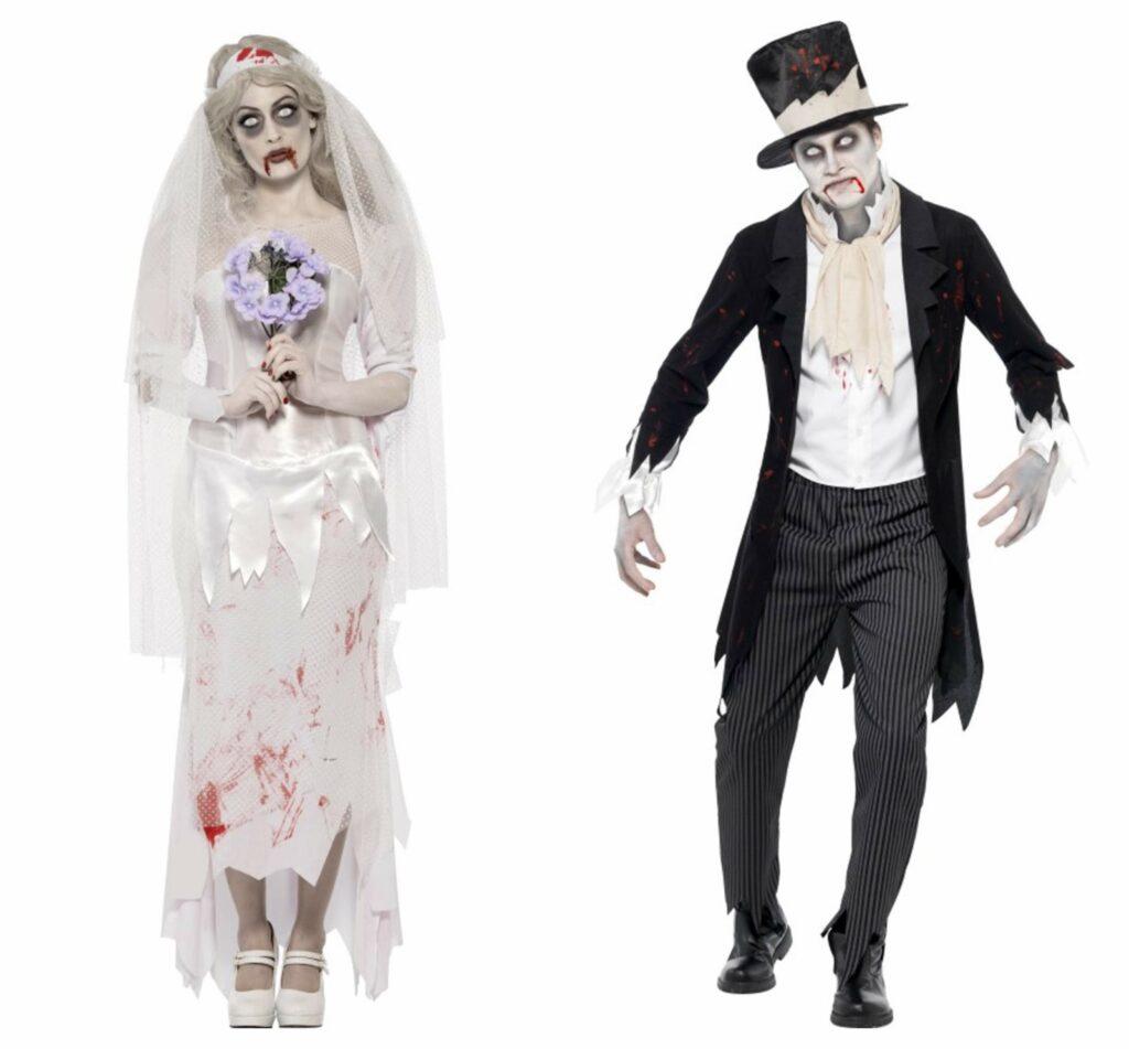 zombie brud og gom par kostume til voksne 1024x951 - Par kostumer til voksne