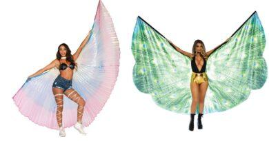 karnevalskostume vinger kostume karneval karnevalskostume til kvinder påfuglevinger sommerfuglevinger regnbue vinger karneval