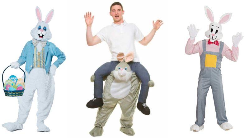 påskehare kostume til voksne påskekostume hare påskehare udklædning kostume til æggejagt kostume til påske