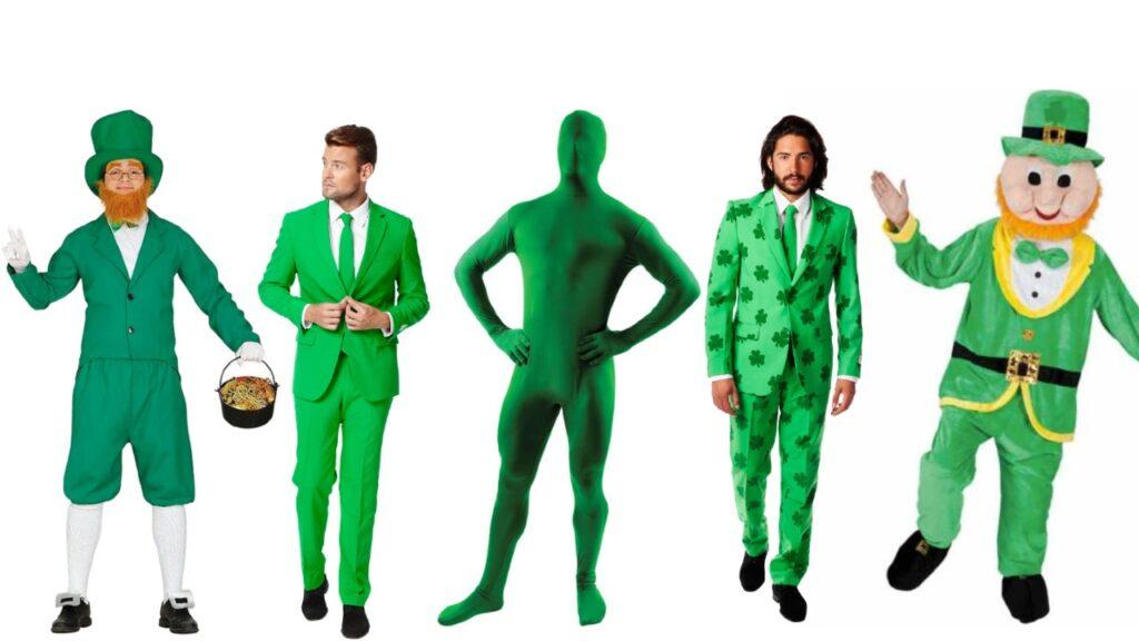 skt patricks day sankt patriks day kostume sankt patricks gørnt kostume mand