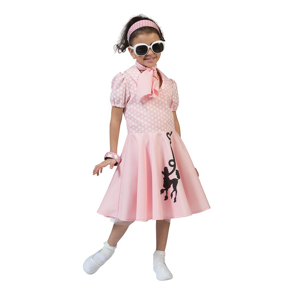 sød 1950erne kjole til piger A kjole 50er kostume til børn 1950erne børnekostume