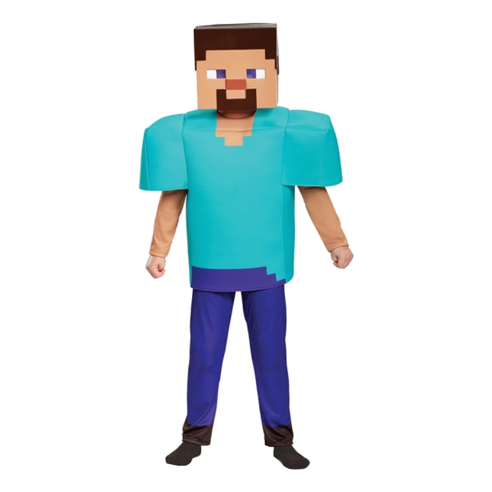 Minecraft steve kostume til børn