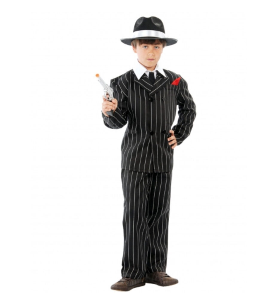 gangster kostume til børn bandit kostume til børn mafia kostume til børn