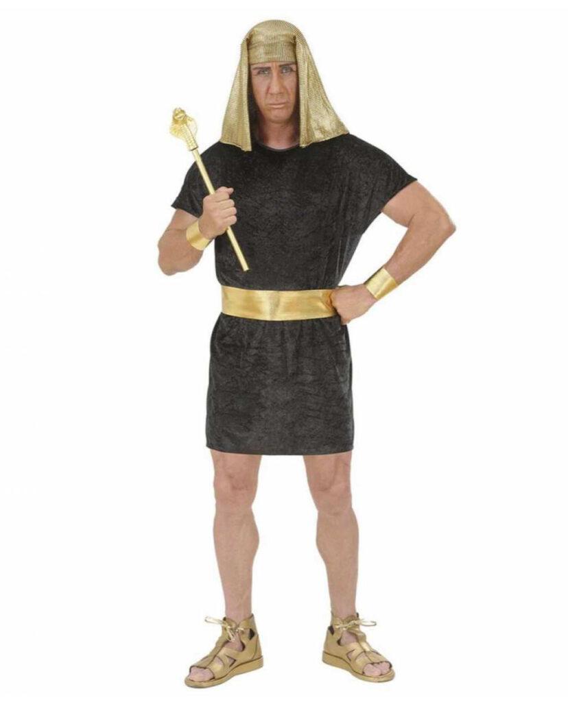 sort kostume til voksne hersker kostume egyptisk udklædning