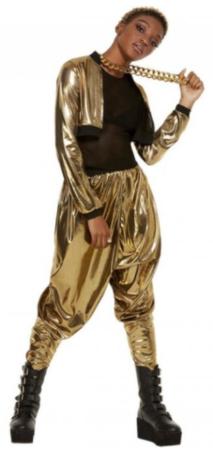 80er fest hammer kostume til kvinder guld kostume sort kostume til dame 80er fest udklædning