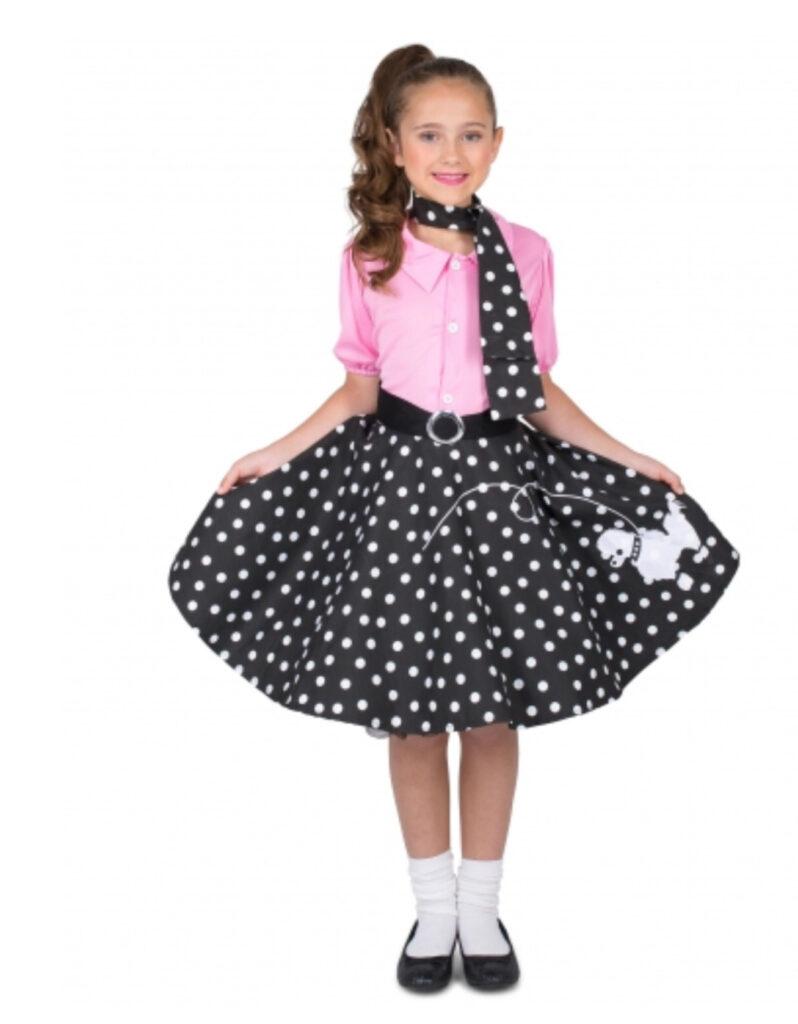 twist kostume til børn jitterbug kjole til børn A kjole dansekjole børnekostume 1950erne