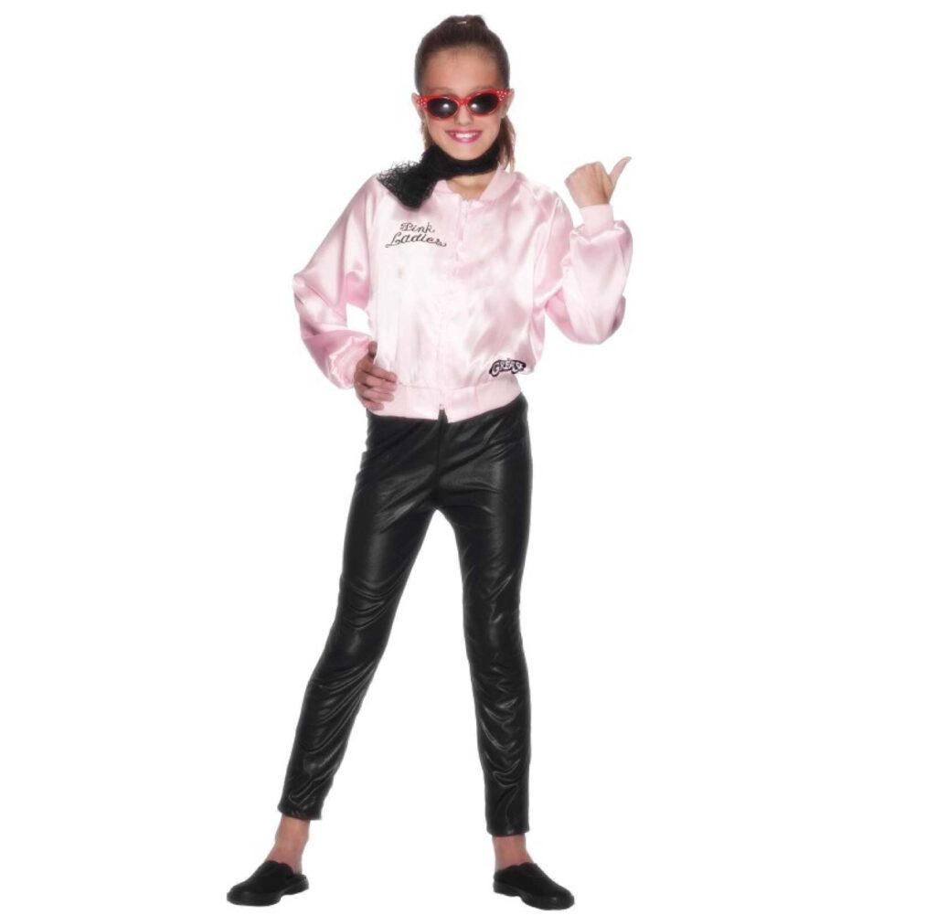 smart 1950erne børnekostume til piger pink lady kostume til piger