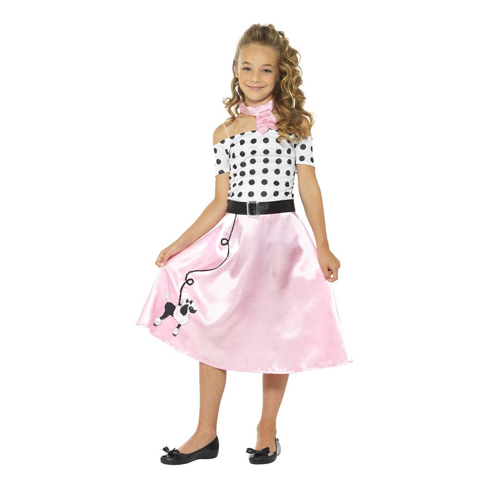jitterbug kostume til børn 1950erne kjole piger
