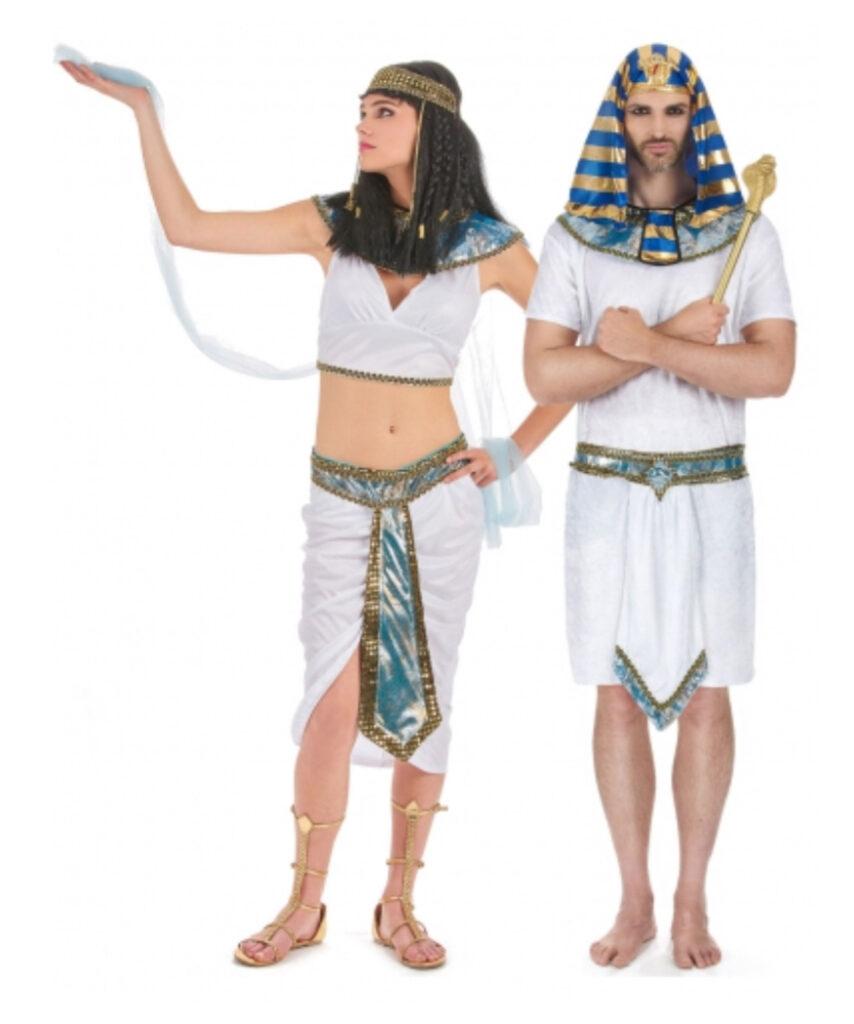 egyptisk par kostume farao kostume parkostume hvidt kostume