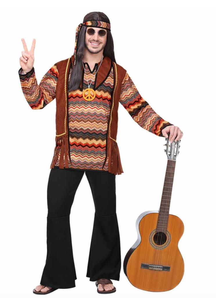 Hippie kostumer til mænd 744x1024 - Hippie kostume til mænd
