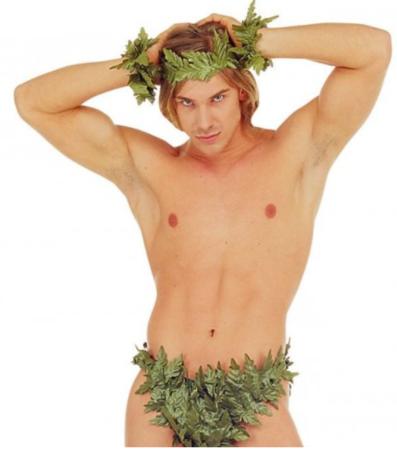 adam kostume til voksne løv sæt til mænd adam herre