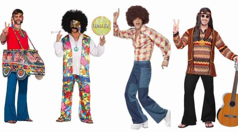 hippie kostume til mænd, hippie udklædning til mænd, hippie tøj til mænd, hippie kostumer til voksne, hippie voksenkostumer, hippie mandekostumer, hippie kostume til karneval, kostume til sidste skoledag, hippie kostume til fastelavn, billige hippie kostumer