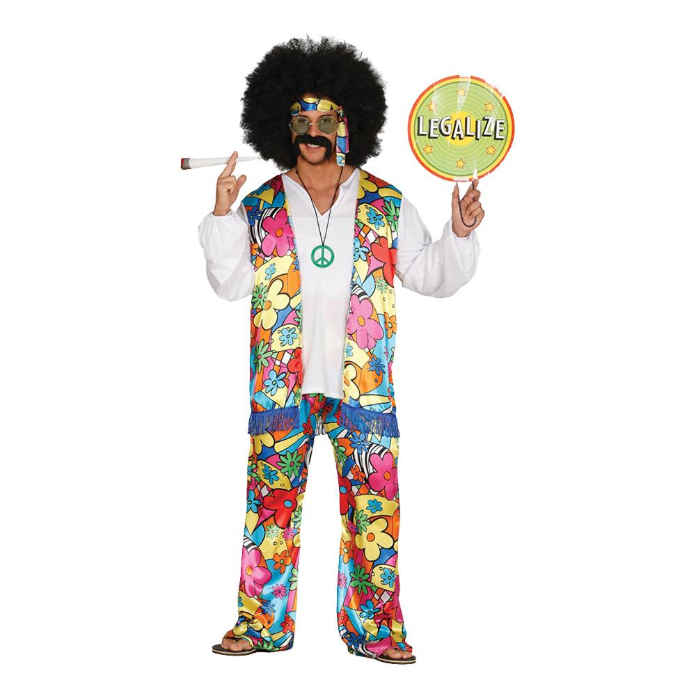 hippie rainbow kostume - Hippie kostume til mænd