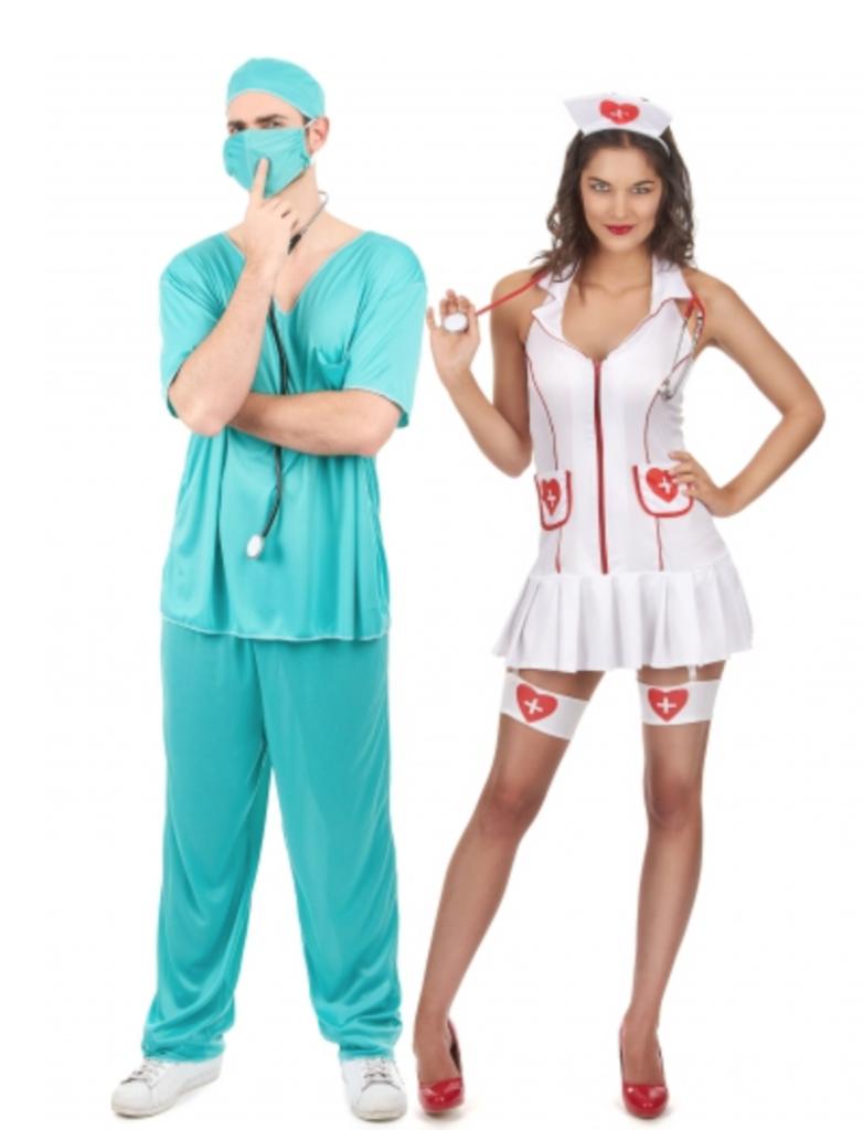 læge og sygeplejerske kostume 782x1024 - Par kostumer til Karneval