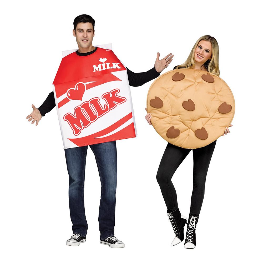 mælk og cookie kostumer til par - Par kostumer til Karneval