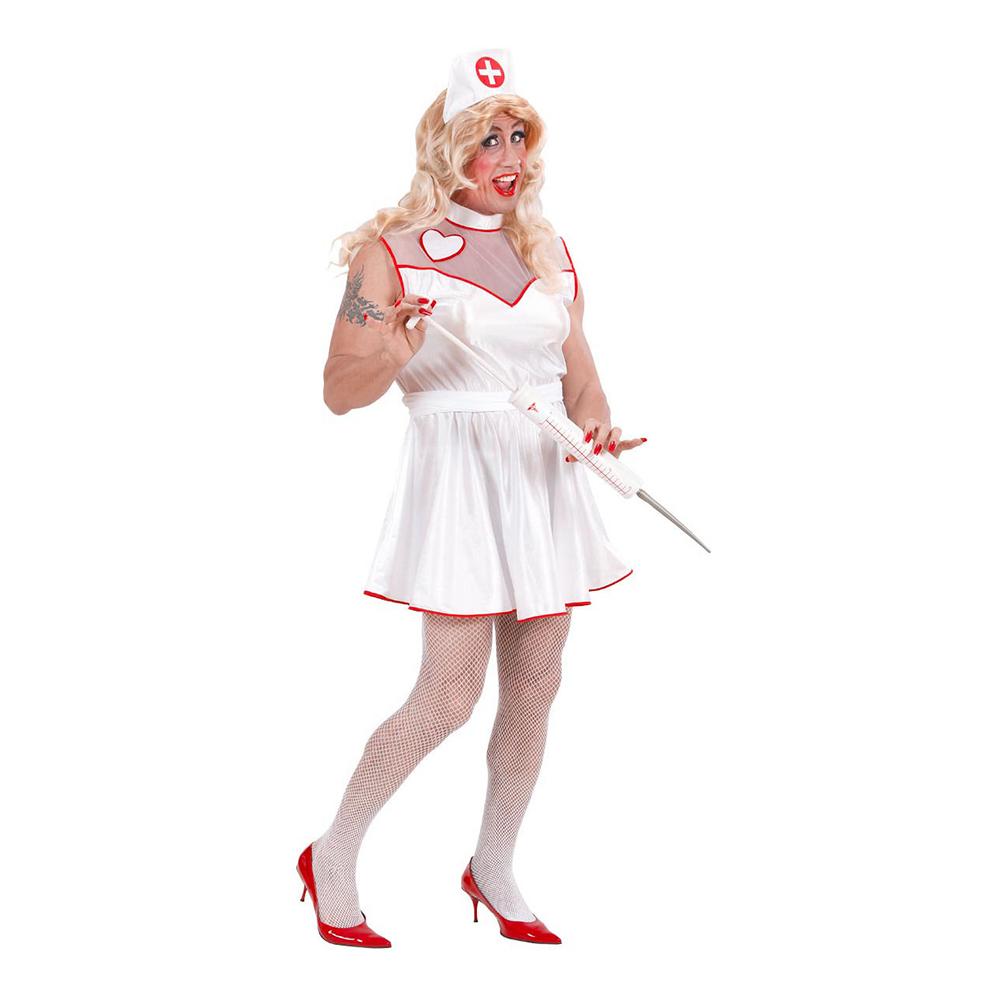 mandlig sygeplejerske kostume - Dragqueen kostume til polterabend eller karneval