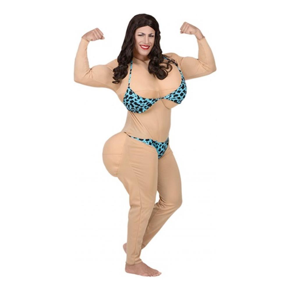 mandligt bikini kostume - Dragqueen kostume til polterabend eller karneval