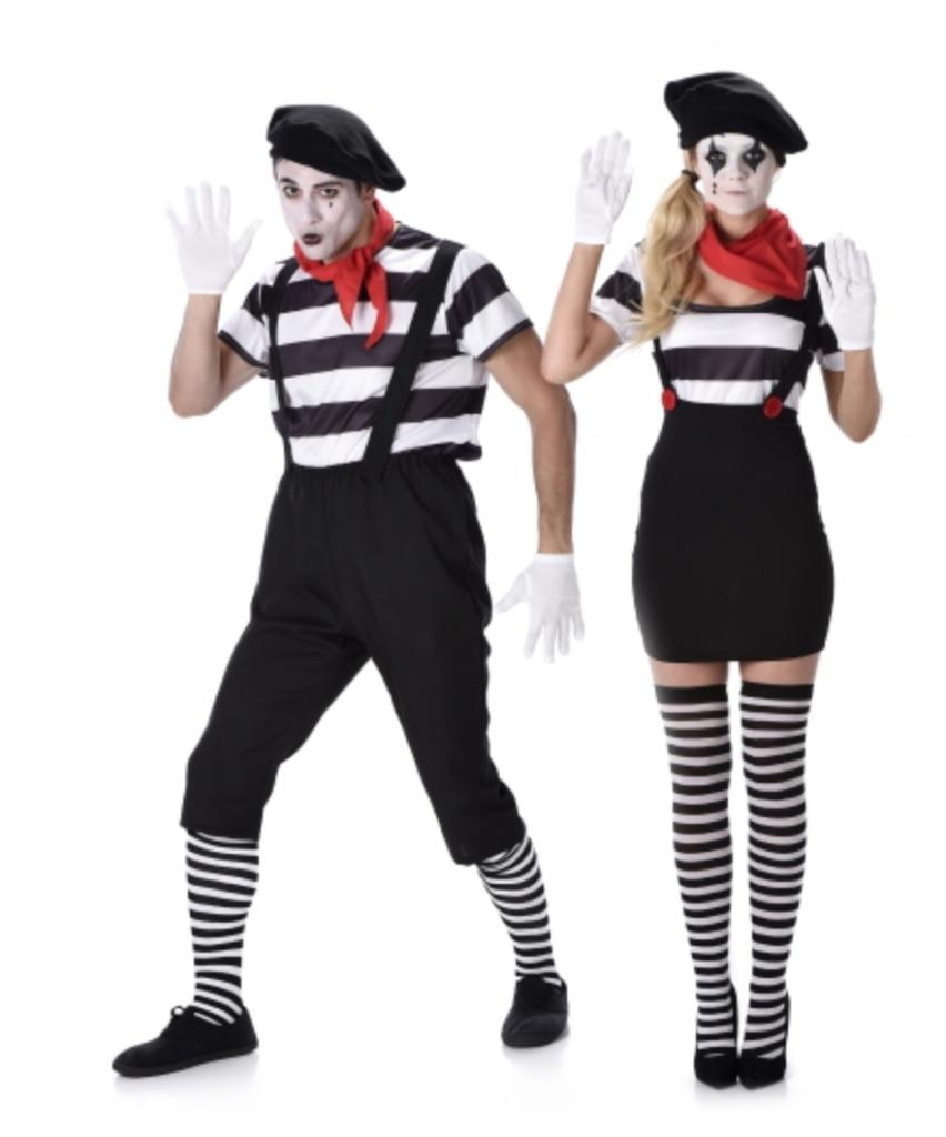 mime kostume til voksne 852x1024 - Par kostumer til Karneval