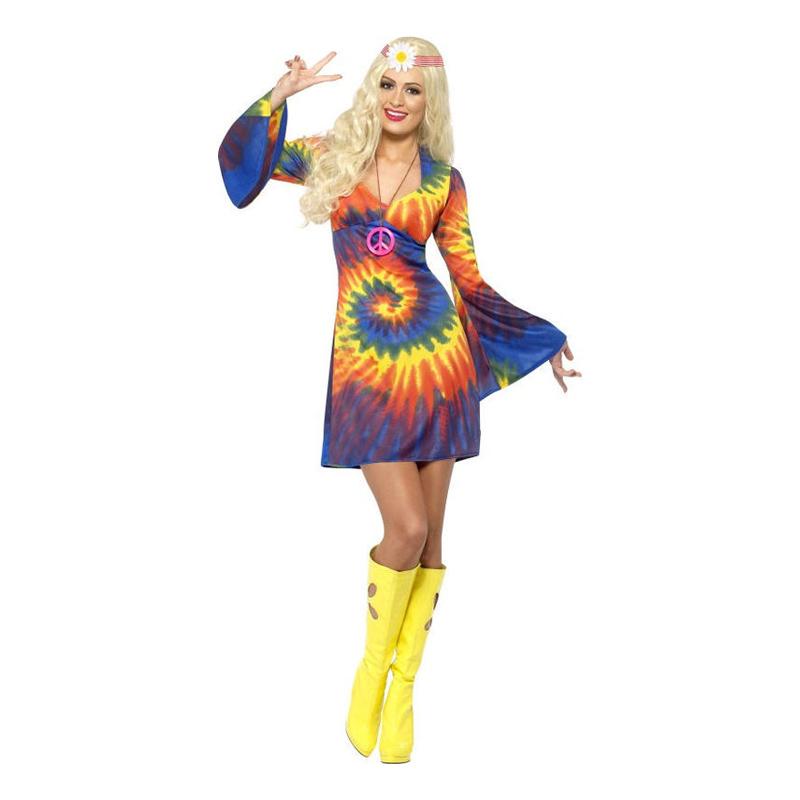 regnbue hippie kostume til kvinder - Hippie kostume til kvinder