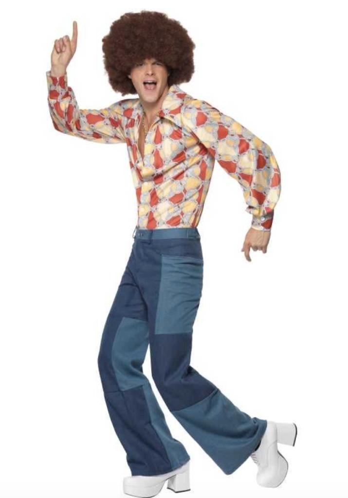 retro hippie kostume til mænd 715x1024 - Hippie kostume til mænd