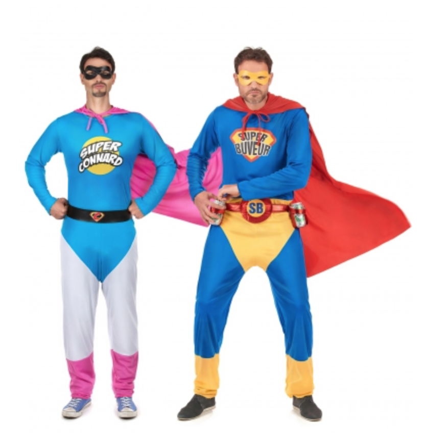 sjove superhelte kostumer til mænd - Par kostumer til Karneval
