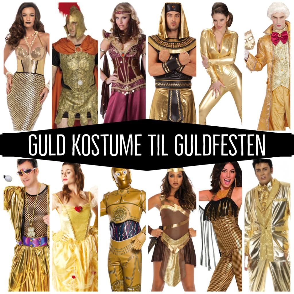 guld kostume til voksne guldfest kostume guldfarvet udklædning guldfest udklædning guldfest kostume