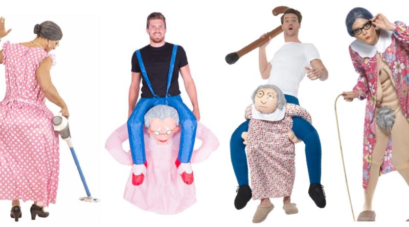 gammel kone kostume bedstemor kostume til voksne farmor kostume til voksne dragqueen kostume til mænd