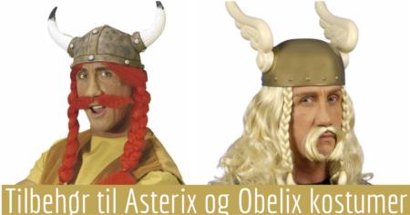 asterix hjelm asterix paryk asterix hår asterix skæg obelix paryk obelix hjelm