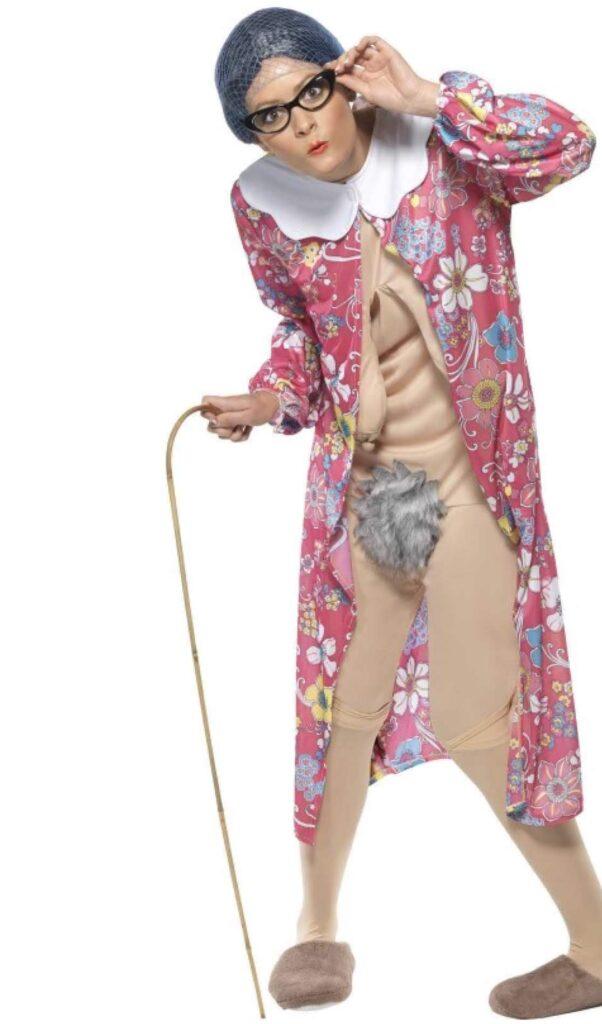 bedstemor blotter kostume farmor kostume mormor kostume gammel dame kostume