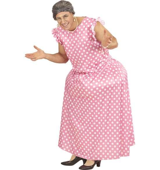 Tyk bedstemor kostume - Bedstemor kostume til voksne