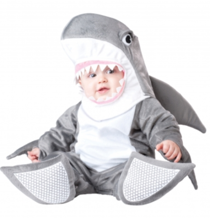 baby kostume haj udklædning til baby haj babykostume