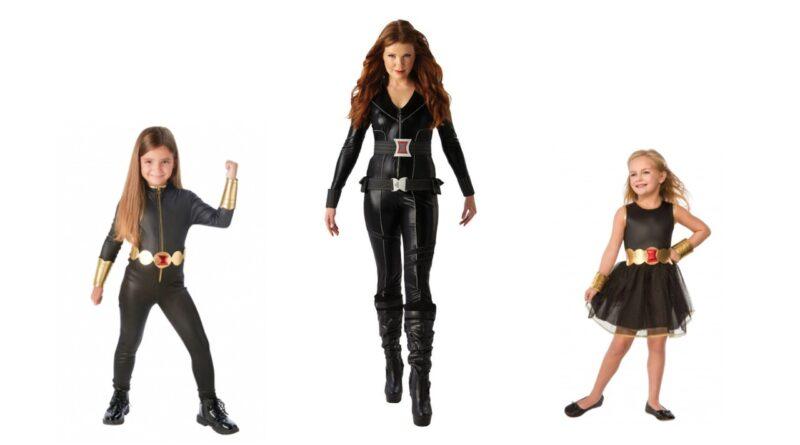 black widow avengers kostume til børn og voksne