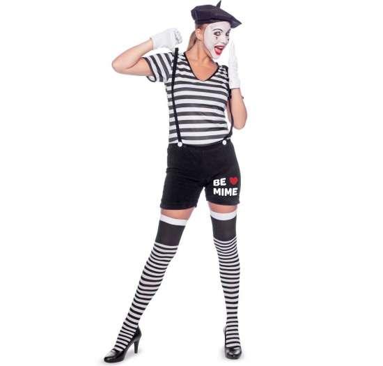 feminin mimer kostume - Mimer kostume til voksne