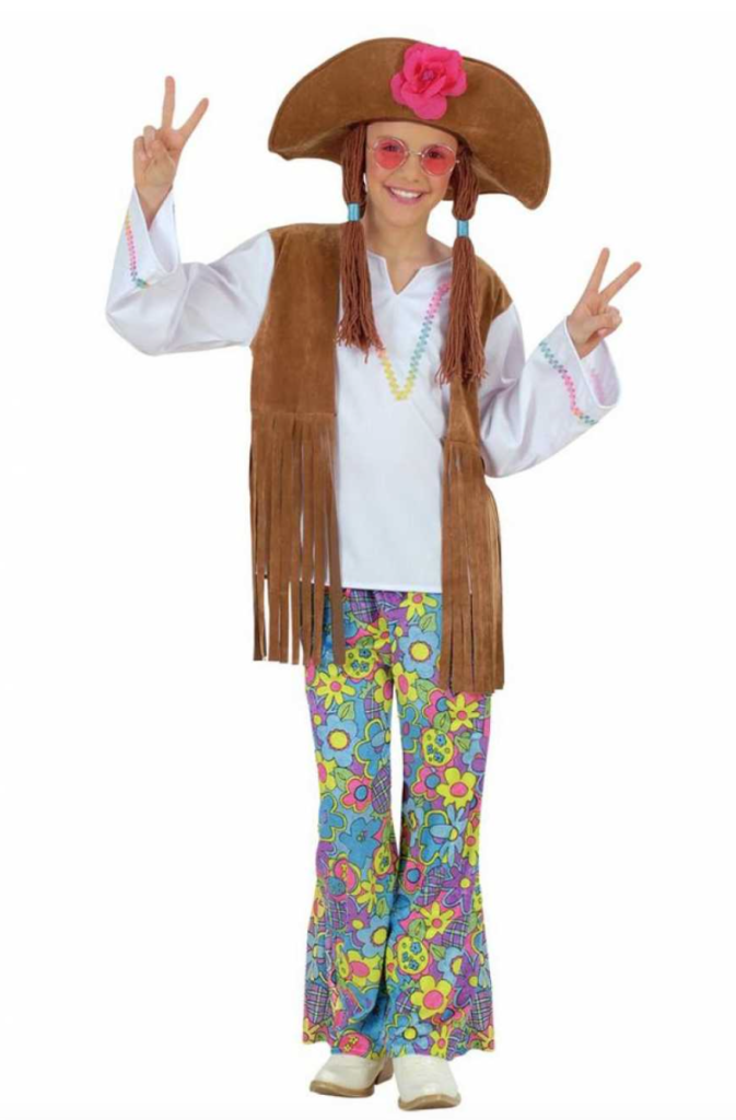 flower power kostume til børn 673x1024 - Hippie kostume til børn