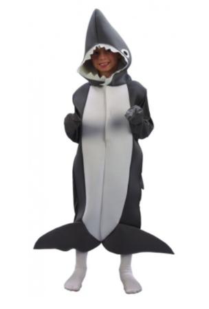 haj hejdragt kostume børnekostume barn haj kostume