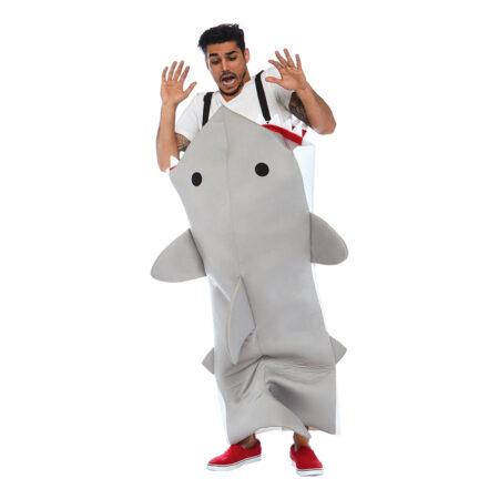 haj kostume til voksne ædt af en haj kostume