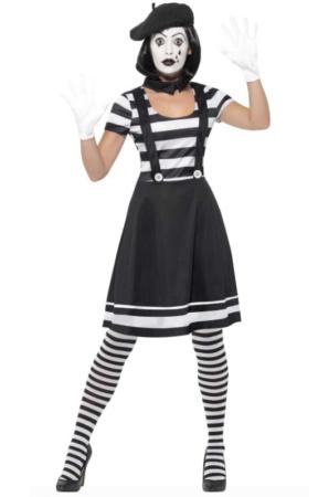 mimer kostume til kvinder sort hvid temafest sidste festivalkostume