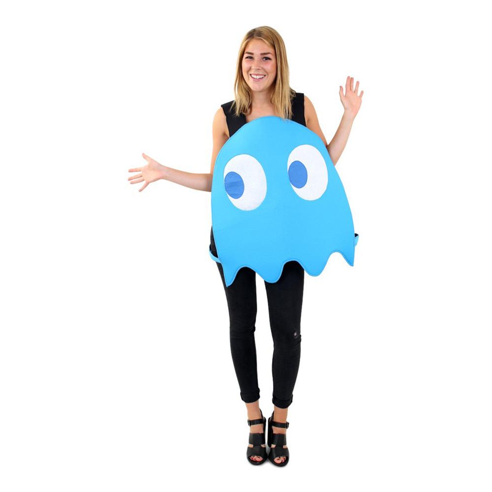 pac man blåt spøgelse kostume - Pac-Man kostume til voksne