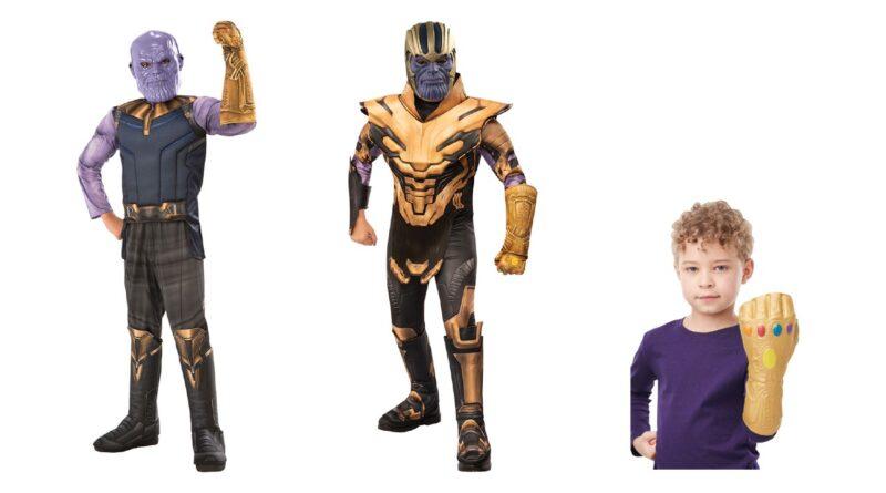 thanos kostume til børn endgame kostume til børn skurk kostume til børn