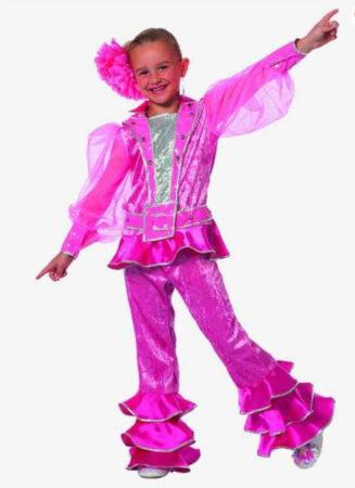disko dronning kostume i pink børnekostume ABBA