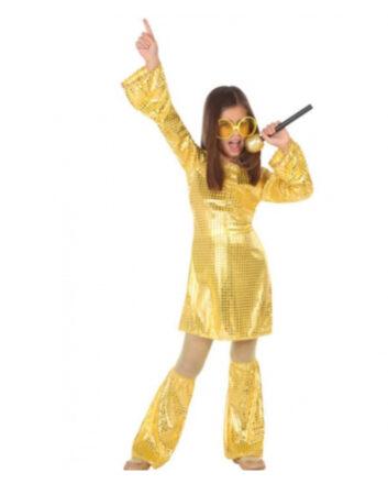 dancing queen kostume til børn abba børnekostume
