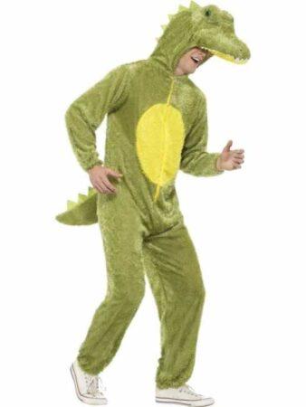 Krokodille voksenkostume 338x450 - Krokodille kostume til voksne