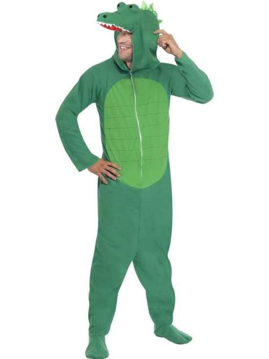 krokodille heldragt - Krokodille kostume til voksne