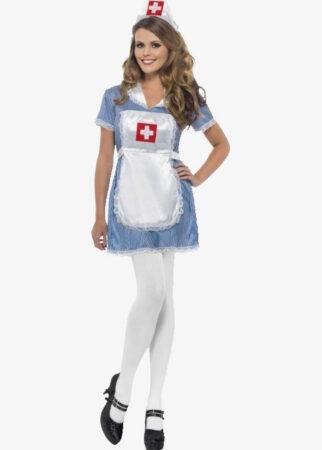 klassisk sødt sygeplejeske kostume til kvinder