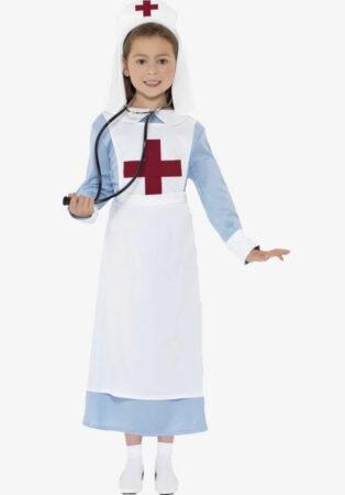 klassisk sygeplejeske kostume til piger