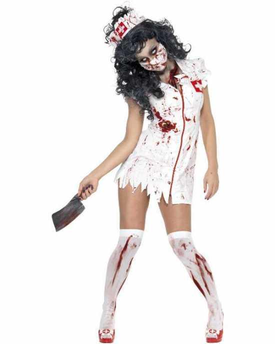 Zombie sygeplejerske kostume - Sygeplejeske kostume til voksne