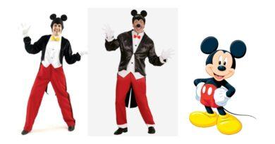 mickey mouse kostume til mænd mickey mouse voksenkostume 390x205 - Mickey Mouse kostume til voksne