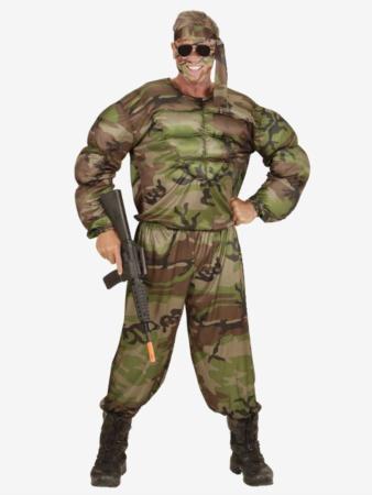 muskel soldat kostume til voksne 338x450 - Soldat kostume til voksne