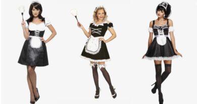 stuepige kostume til voksne fransk maid kostume til voksne sort hvid kostume frækt kostume til voksne